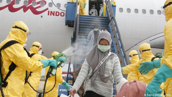 Indonesien Rückholung von Staatsbürgern aus Wuhan (Reuters/Antara Foto)