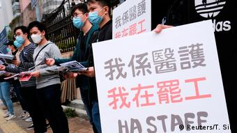 Hongkong Streik von Krankenhauspersonal