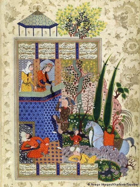رسم من كتاب الملوك للشاعر الفارسي الفردوسي