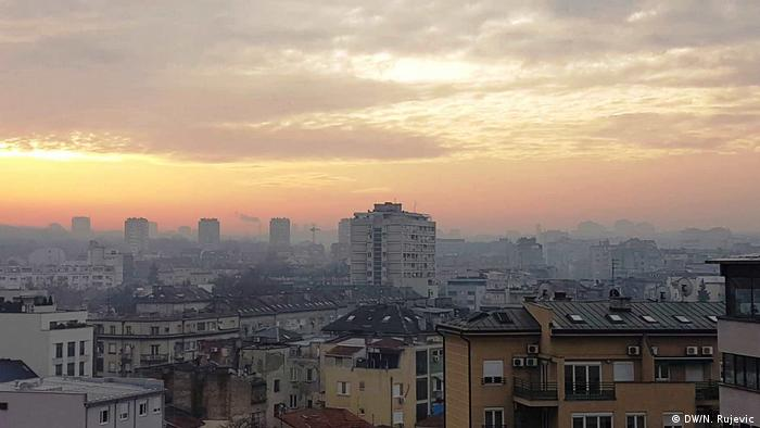 Serbien Belgrad Panorama