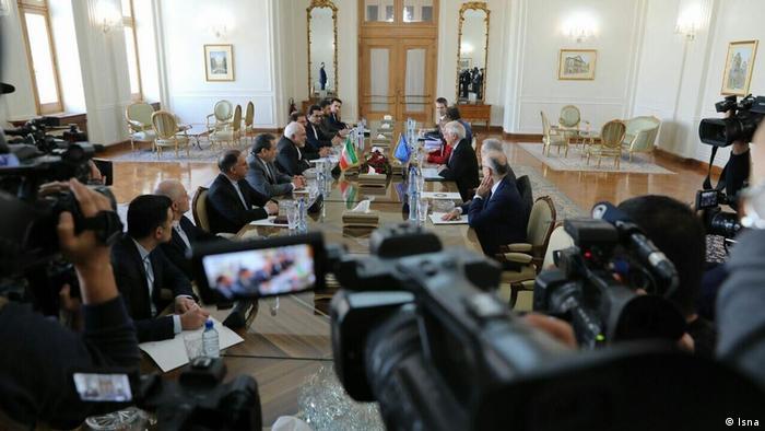 Teffen vom iranischen Außenministers Mohammad Javad Zarif und EU-Aussenbeauftragte Joseph Borrell in Teheran