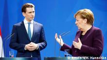 Deutschland PK Merkel und Kurz