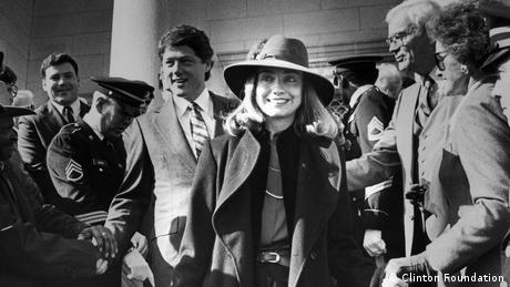 film still Hillary, with Hillary and Bill Clinton (Clinton Foundation)