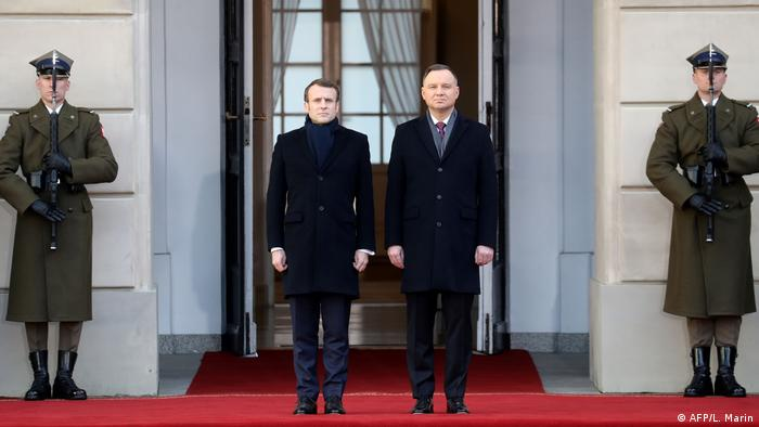 Emmanuel Macron and Andrzej Duda