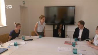 Les recruteurs ont été impressionnés par le niveau d'allemand de Iyaloo Akuunda