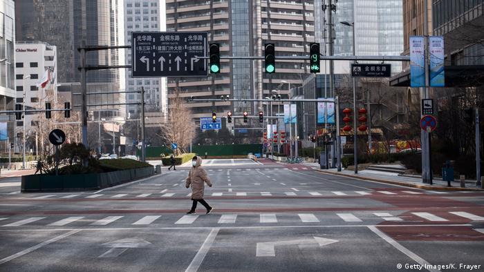 Empty Beijing intersection
