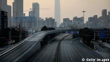 China Wuhan | Coronavirus | leere Straßen