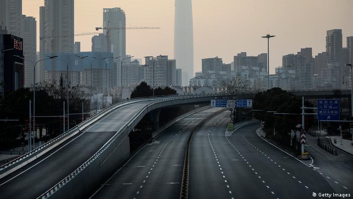Wuhan, na China, se tornou uma cidade-fantasma