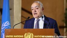 Schweiz PK UN-Sonderbeauftragter für Libyen Ghassan Salamé