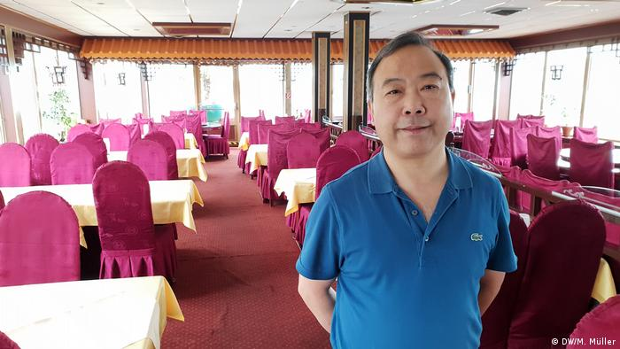 Navire chinois Ocean Paradise à Bonn (DW / M. Müller)