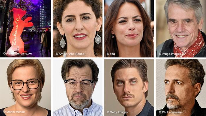 اعضای هیأت داوران در بخش مسابقه عبارتند از جرمی آیروز، برنیس بژو، آنماری یاسر (ردیف بالا از راست)، کلبر مندونسا فیلیو، لوکا مارینلی، کنت لونرگان و بتینا بروکمپر (ردیف پایین از راست). جرمی آیرونز، رئیس این هیأت به همراه دیگر اعضا برندگان اصلی جشنواره برلین را انتخاب میکند. در بخش رقابتی برلیناله ۱۸ فیلم حضور دارند، از جمله فیلم شیطان وجود ندارد، تازهترین اثر محمد رسولاف، کارگردان ایرانی.