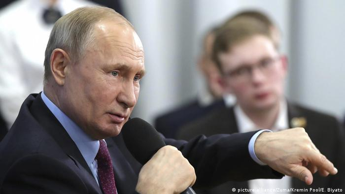Russland Präsident besucht Cherepovets (picture-alliance/Zuma/Kremin Pool/E. Biyato)
