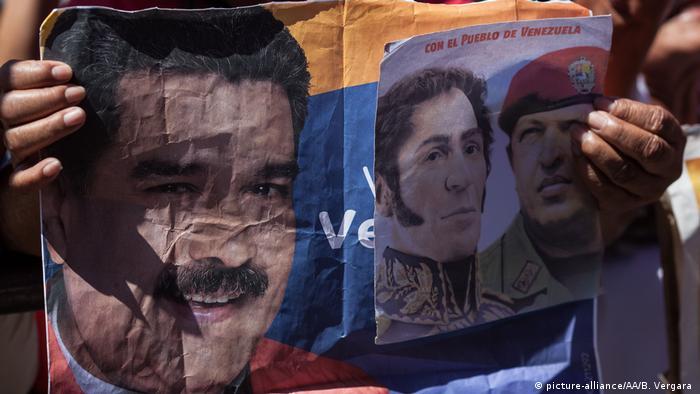 Venezuela Pro-Regierungsmarsch in Caracas (picture-alliance/AA/B. Vergara )