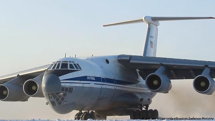Российский военно-транспортный самолет Ил-76 (Фото из архива)
