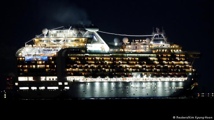 Cruise Ship Diamond Princess in Yokohama Port