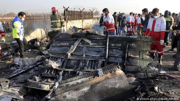 Iran Nach dem Flugzeugabsturz
