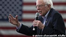 Democratic presidential candidate Sen. Bernie Sanders, I-Vt., speaks during a campaign rally, Tuesday, Feb. 4, 2020, in Milford, N.H. (AP Photo/Mary Altaffer) |