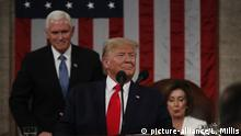 U.S. President Donald Trump begins to deliver his State of the Union address to a joint session of the U.S. Congress in the House Chamber of the U.S. Capitol in Washington, U.S. February 4, 2020. Credit: Leah Millis / Pool via CNP /MediaPunch |