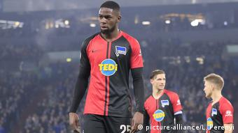 Le défenseur du Hertha Berlin Jordan Torunarigha a eu le soutien de son club