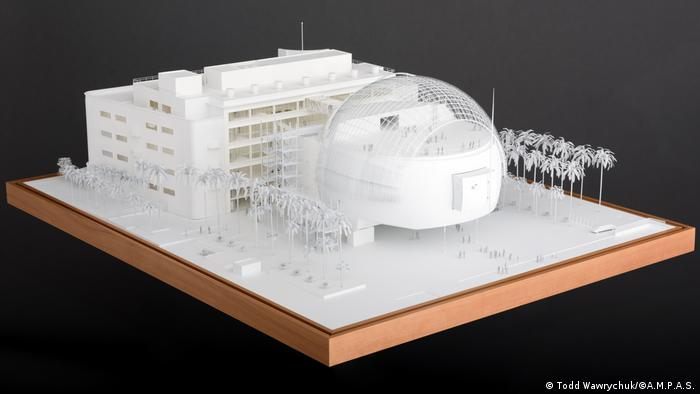 A model of the Academy Museum of Film designed by architect Renzo Piano (Todd Wawrychuk/©A.M.P.A.S.)