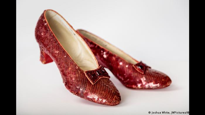 The ruby red slippers worn by Judy Garland in the film The Wizard of Oz (Joshua White, JWPictures/©A.M.P.A.S.)