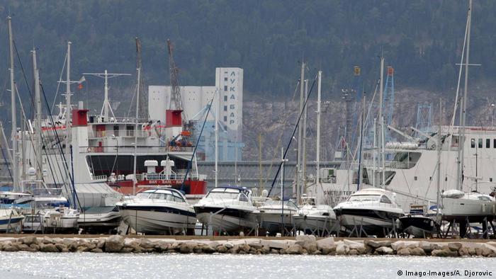 Montenegro Hafen der Stadt Bar