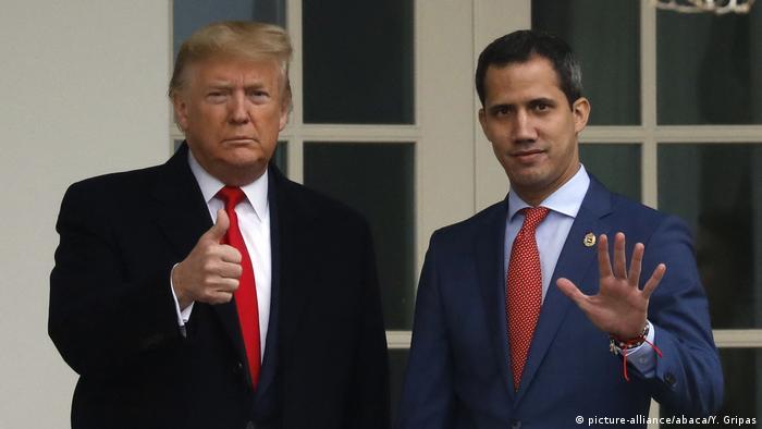 Donald Trump empfängt Juan Guaido aus Venezuela