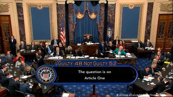 За першою статтею обвинувачення Дональда Трампа визнали винним 48 сенаторів