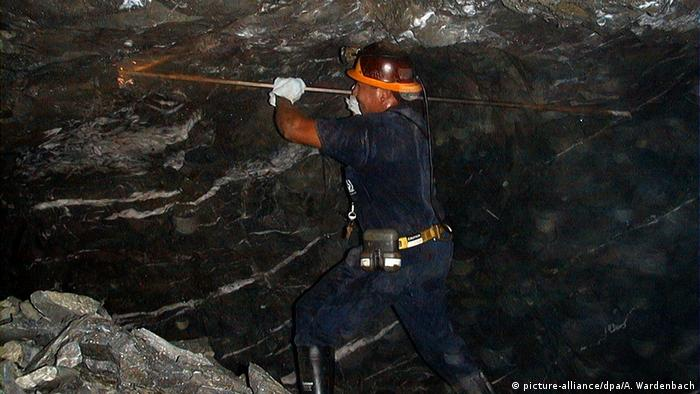 Foto simbólica de minero en Venezuela