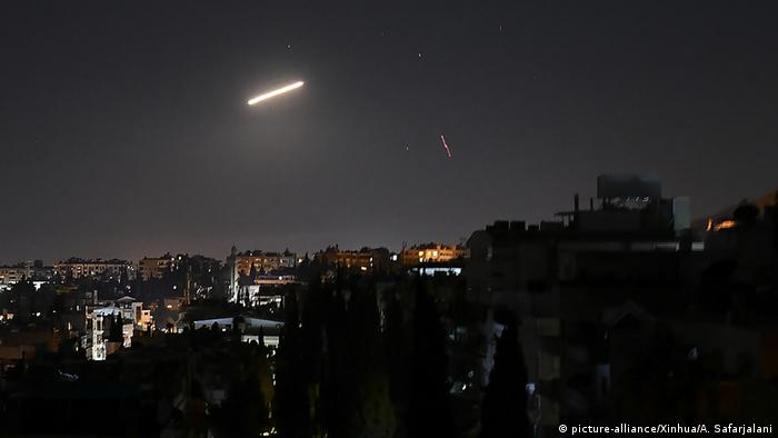 The Syrian army said the rocket attack came from the Golan Heights