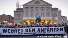 Deutschland l Proteste nach Ministerpräsidentenwahl in Thüringen l in Weimar
