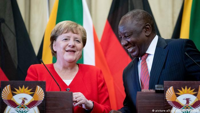 Angela Merkel and Cyril Ramaphosa