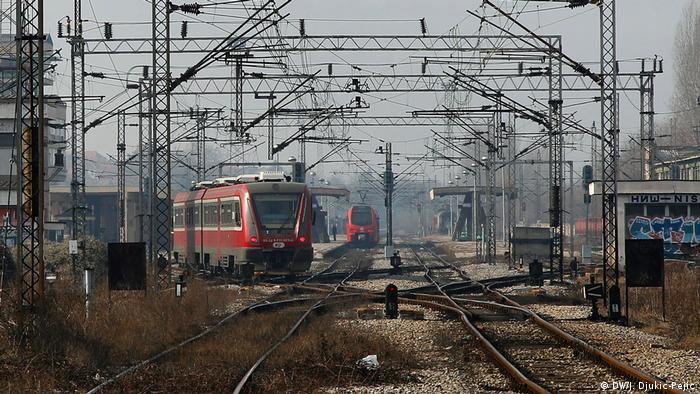 Serbien Belgrad   Serbische Lokführer in Deutschland - Bahnhof Belgrad