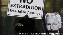 England London Demonstration Unterstützer Julian Assange