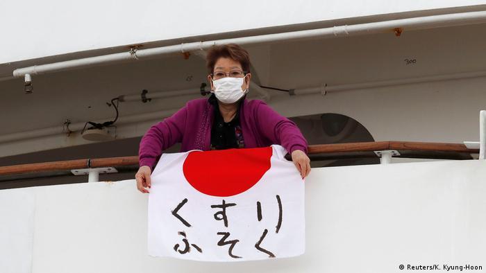 Passengers aboard the quarantined cruise ship Diamond Princess