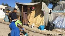 Flüchtlinge im Camp Moria auf Lesbos
