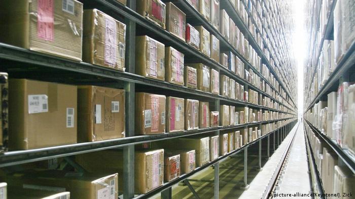 Goods on shelves