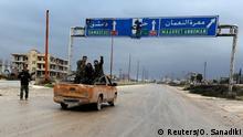 Syrien Soldaten bei Maarat al-Numan