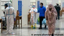 China Wuhan provisorisches Krankenhaus für Coronavirus-Patienten