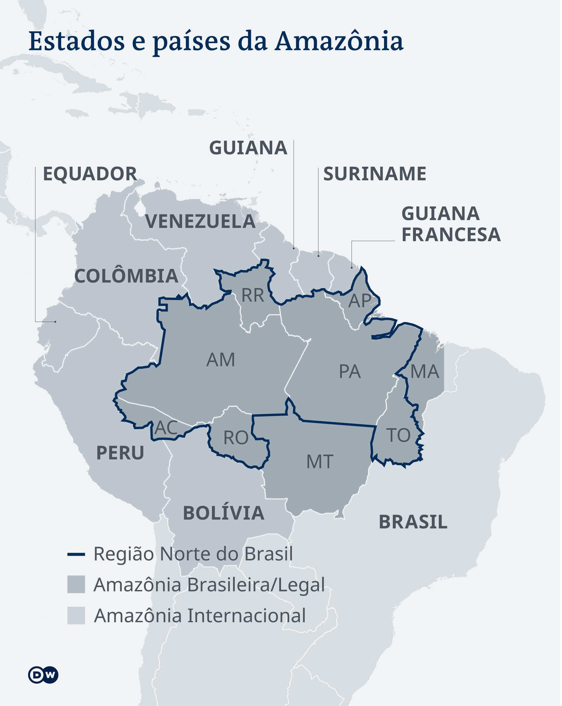 Infografik Amazonas Regionen PT