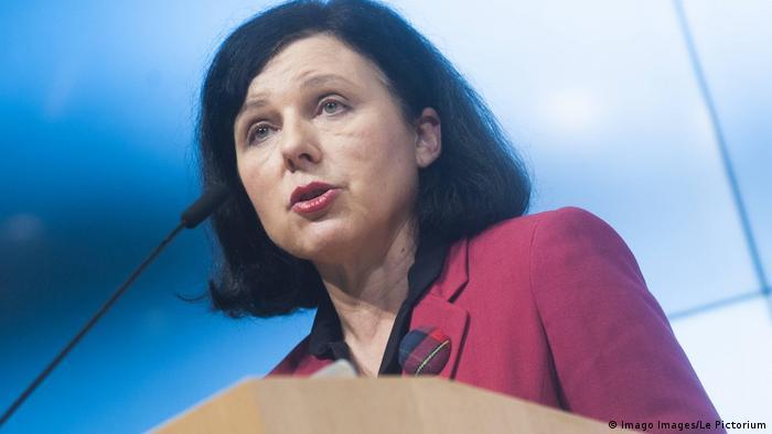 Vera Jourova - tschechische Politikerin (Imago Images/Le Pictorium)