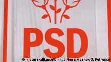 (Ausschnitt) Ruämnien Bukarest | Logo der PSD Partei