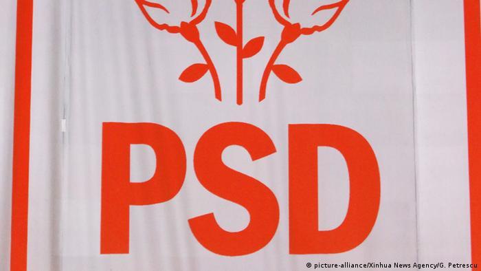 Simbolul partidului PSD (picture-alliance/Xinhua News Agency/G. Petrescu)