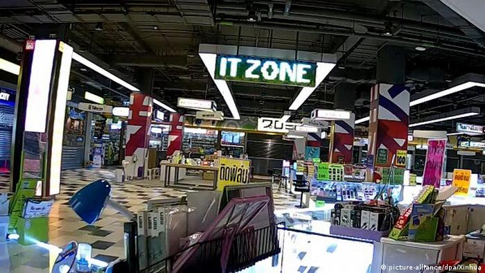 A shop inside the Terminal 21 shopping center