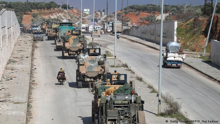 İdlib'de Türk askeri konvoyu