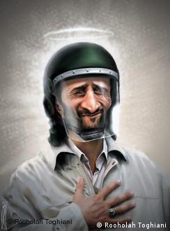 کاریکاتوری از چهرهی رئیسجمهور ایران، محمود احمدینژاد، کار کاریکاتوریست مطرح روحالله طغیانی
