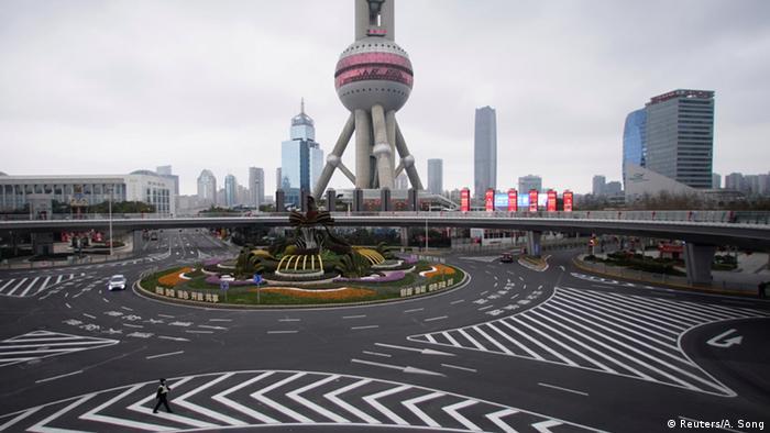 China Peking Geisterstädte leere Straßen Coronavirus (Reuters/A. Song)