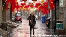 China Peking leeres Tourismusviertel Coronavirus