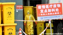 China Chengdu Krankenhausabfälle Coronavirus