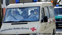 Berlin Flughafen Tegel Evakuierte aus Wuhan